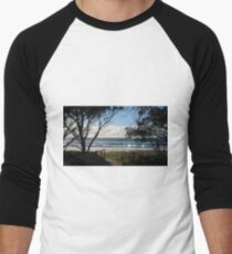 Beautiful beach park view. Men's Baseball ¾ T-Shirt