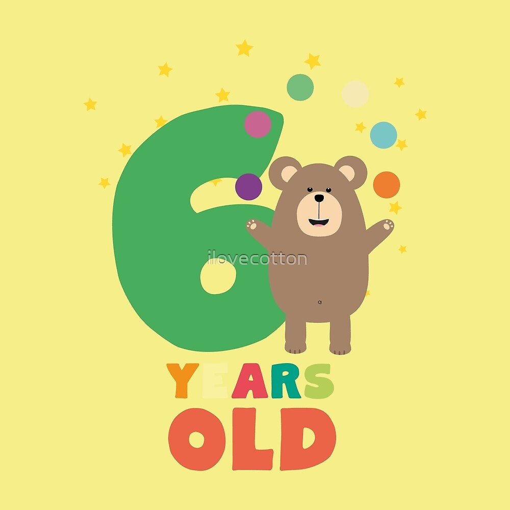Six Years sixth Birthday Party Grizzly Ry9gt by ilovecotton