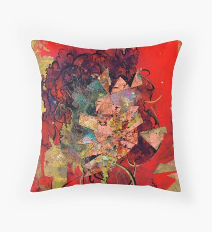 Blood and Gold Throw Pillow