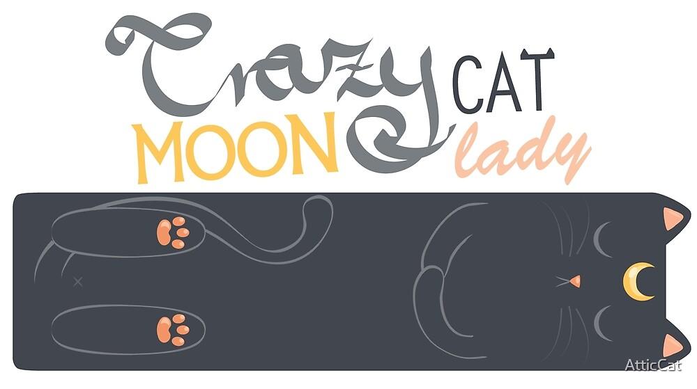 Crazy moon cat lady by AtticCat