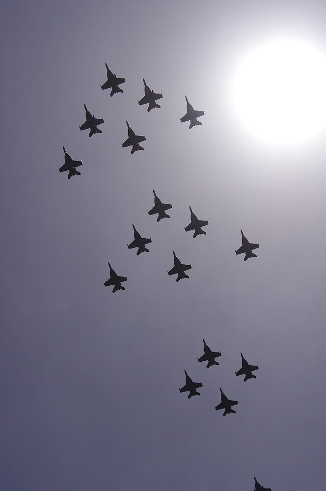 Jet Flyover in Formation by Erin-One