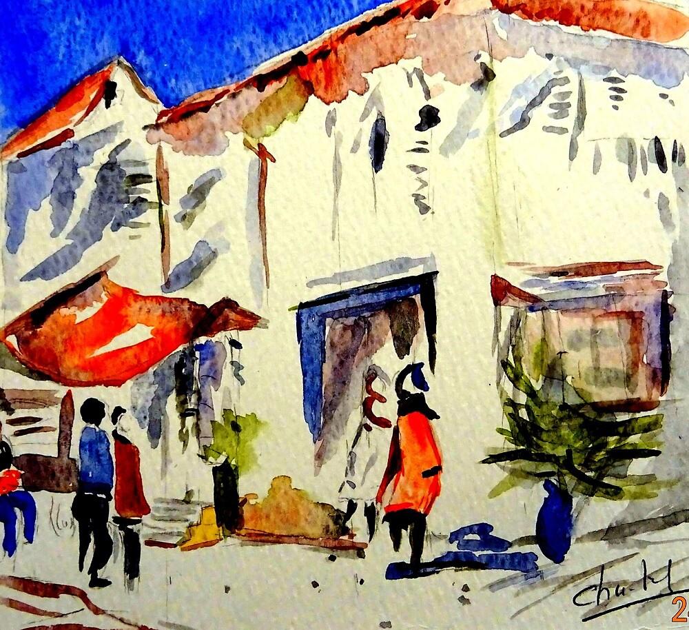 The market. by Chantal MARSAULT