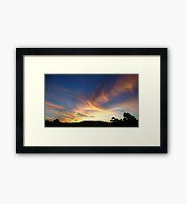 Colourful Sunset. Framed Print