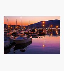 Canada. British Columbia. Kelowna. Lake Okanagan. Sunset. Photographic Print