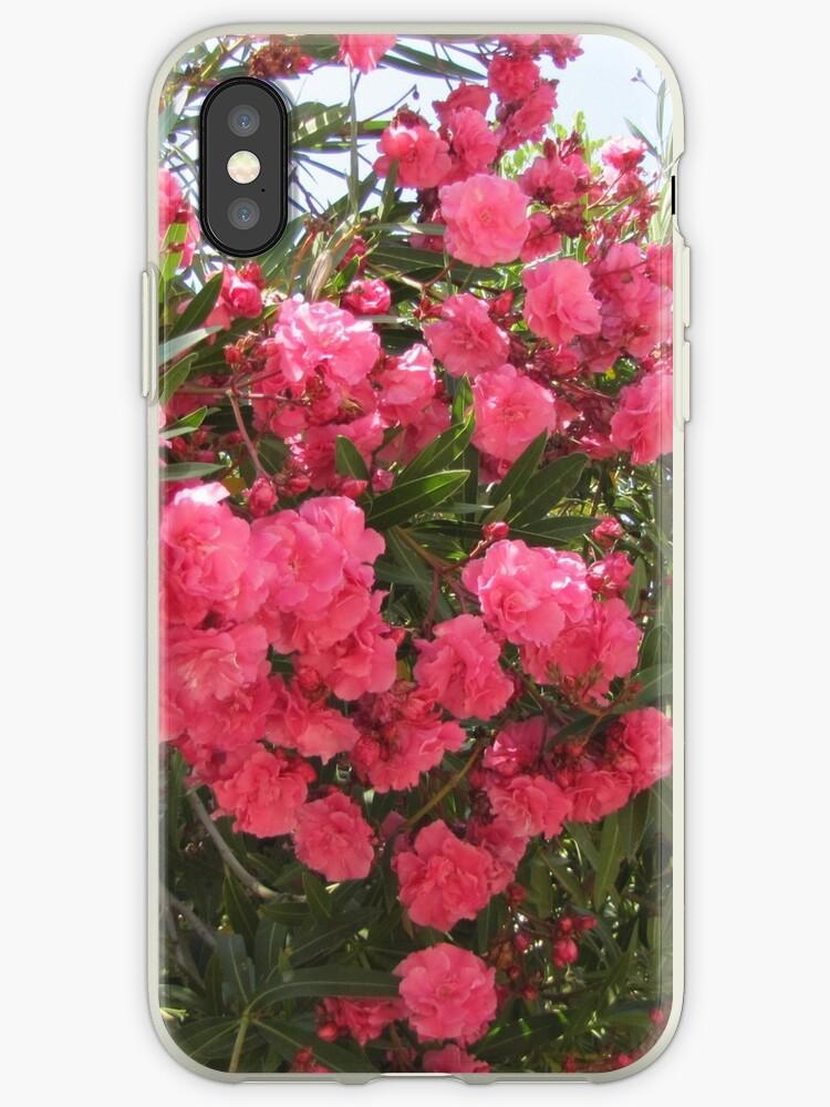 pink flower oleander by designer437