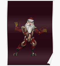 Giant Robot Mech Tech Santa Claus Poster