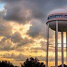 Bentonville Sunset Over the City Water Tower by Gregory Ballos