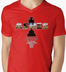 2017-18 Ashes Venues Men's V-Neck T-Shirt