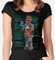 Marvin The Paranoid Android Cross-Section Women's Fitted Scoop T-Shirt