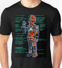 Marvin The Paranoid Android Cross-Section T-Shirt