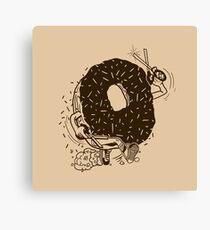 Donut Run with Scissors Canvas Print