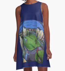 Surreal Suburbia A-Line Dress