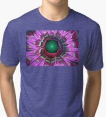 Lilac Red Petals Tri-blend T-Shirt