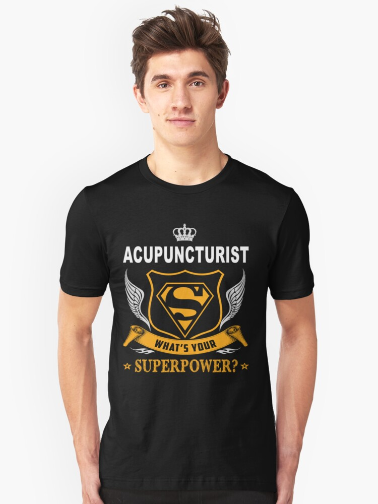 ACUPUNCTURIST SUPER POWER WING Unisex T-Shirt Front