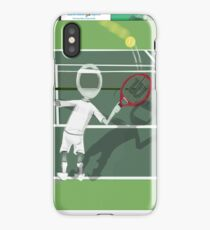 Corky's playing tennis iPhone Case