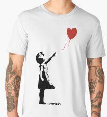 Banksy Girl Red Balloon Men's Premium T-Shirt