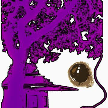 Afro-Tree Purple by Sumfellanamerya
