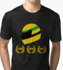 AYRTON SENNA THE 3 TIMES WORLD CHAMPION Tri-blend T-Shirt