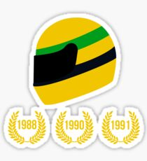 AYRTON SENNA THE 3 TIMES WORLD CHAMPION Sticker