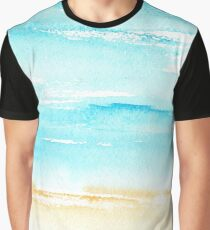 Sunny beach || watercolor Graphic T-Shirt
