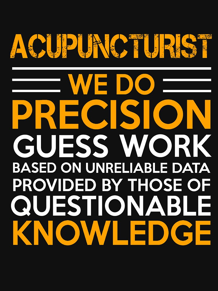 ACUPUNCTURIST QUESTIONABLE KNOWLEDGE by Avarwilima