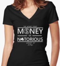 Conor Mcgregor vs. Floyd Money Mayweather Women's Fitted V-Neck T-Shirt