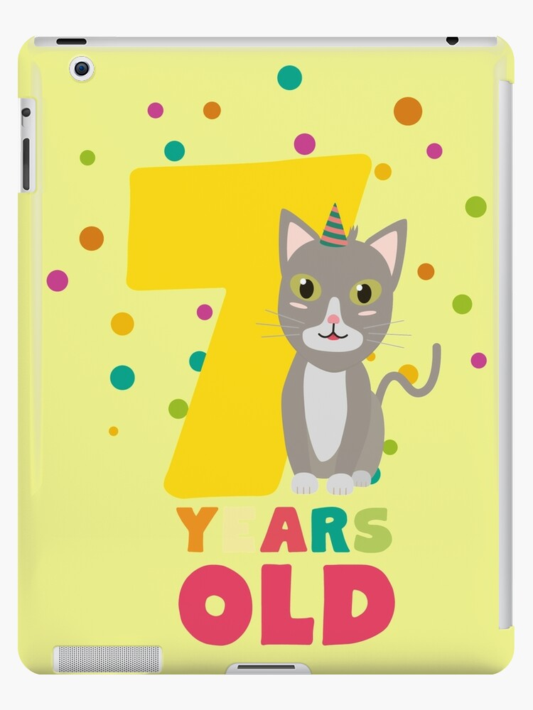 Seven Years seventh Birthday Party Cat Rkp39 by ilovecotton