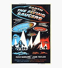 1956 movie poster earth vs flying saucers Photographic Print