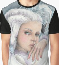 """Moon princess """"Yue"""" watercolour and ink painting Graphic T-Shirt"""