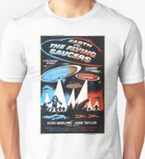 1956 movie poster earth vs flying saucers T-Shirt
