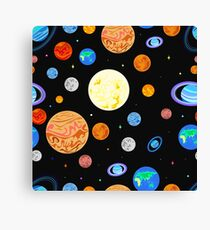 Pattern  planets of the solar system. Canvas Print