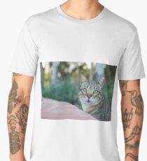 Cute cat portrait Men's Premium T-Shirt