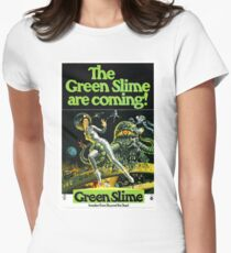 1968 movie poster the green slime Womens Fitted T-Shirt