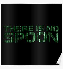 There Is No Spoon Matrix Cool Movie Quote Sci Fi Poster