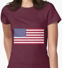 US flag edit B Womens Fitted T-Shirt