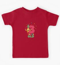 Three Years third Birthday Party Pineapple Ru73e Kids Tee