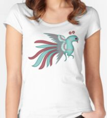 Pajarito #1 | Mexican Amate Style Bird Women's Fitted Scoop T-Shirt