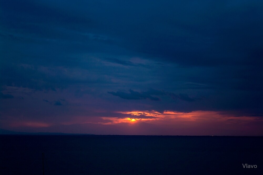 RED AND BLUE SUNSET by Vlavo