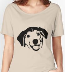 Smiling Black Dog Women's Relaxed Fit T-Shirt
