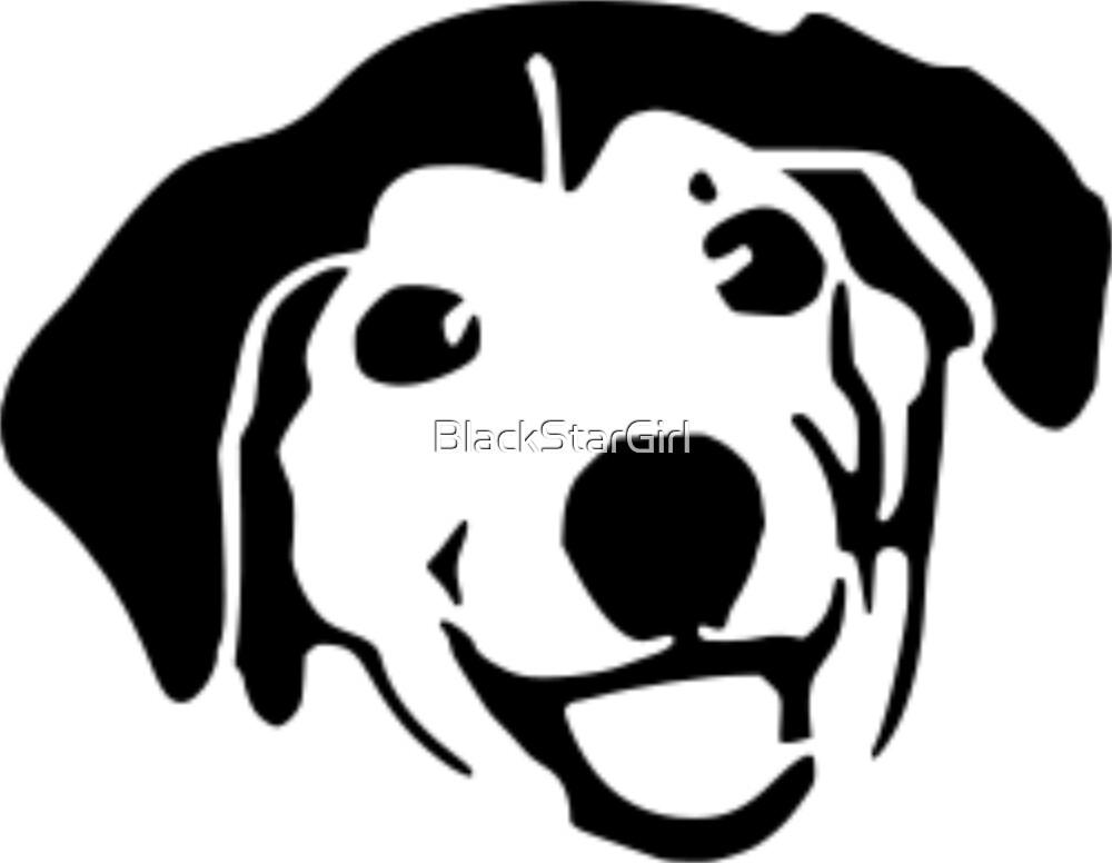 Smiling Black Dog by BlackStarGirl