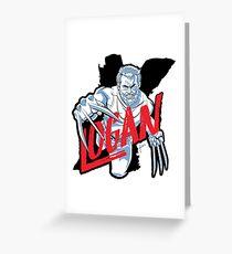 LOGAN clear Greeting Card