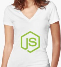 NODE JS Women's Fitted V-Neck T-Shirt