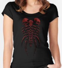 Necromancer Shield Red Women's Fitted Scoop T-Shirt