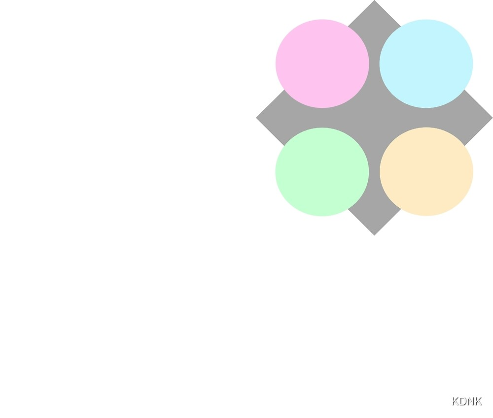 Gray Diamond, Pastel Circles  by KDNK
