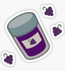 'X' Marks the Grape Jelly Sticker