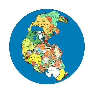 Pangea Political World Map by branpurn