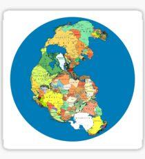 Pangea Political World Map Sticker