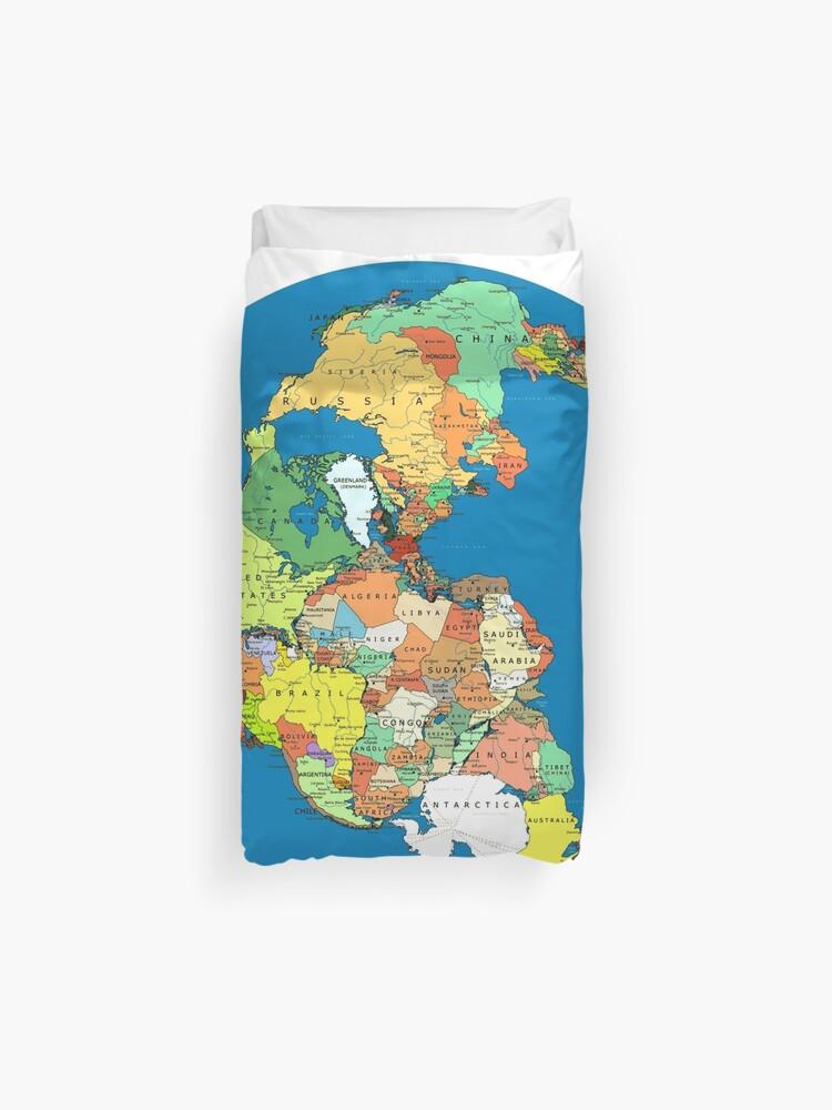 Pangea Political World Map\