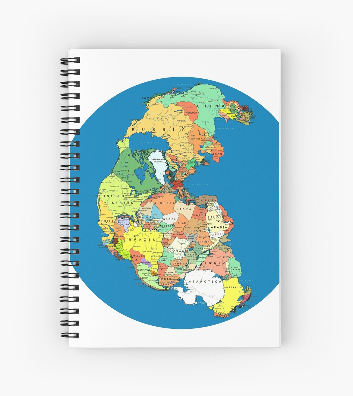 Pangea political world map spiral notebooks by branpurn redbubble pangea political world map by branpurn gumiabroncs