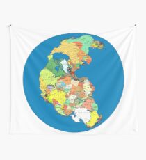 Pangea Political World Map Wall Tapestry